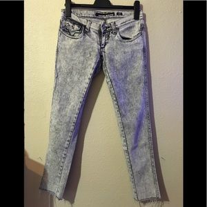 Miss Sixty Style shock acid washed jeans sz 26
